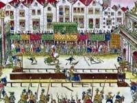 P180c - IMAGE CHEVALERIS - La mort d Henri II en tournoi 2