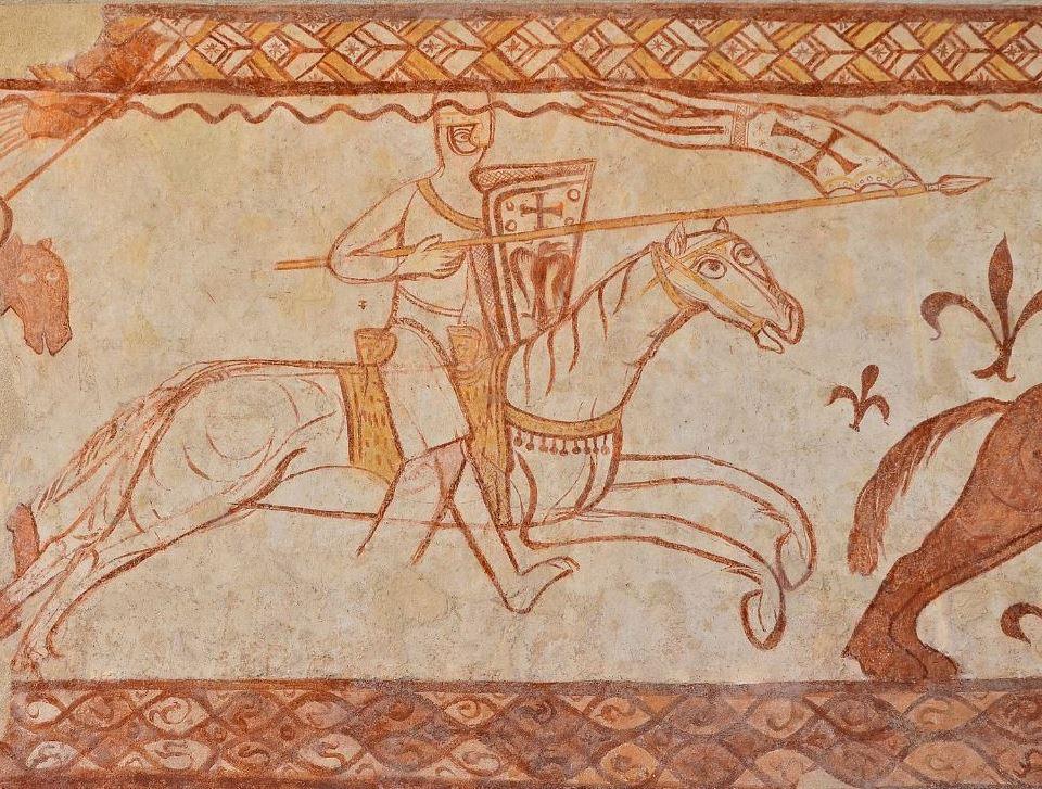 P192 c - IMAGE TEMPLIERS Cressac - Attaque des chevaliers