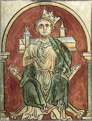 P194c - Image JEAN SANS TERRE - Cotton Claudius D VI folio 9v