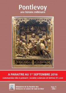 Pontlevoy, une histoire millénaire (à paraître 1/9/16) @ SSLLC | Blois | Centre-Val de Loire | France