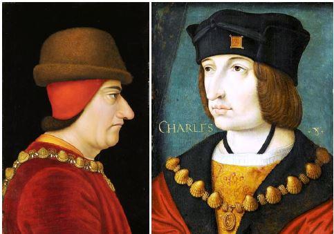 P221c - IMAGE Louis XI et Ch. VIII